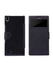 Nillkin Huawei Ascend P6 Slim Flip Leather Mobile Phone Case Cover, Black