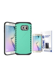 Ozone Samsung Galaxy S6 Edge Hybrid PC TPU Armor Protective Case, with Screen Protector, Green