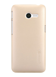 Nillkin Asus Zenfone 4 Frosted Hard Shield Mobile Phone Case Cover, with Screen Protector, Gold