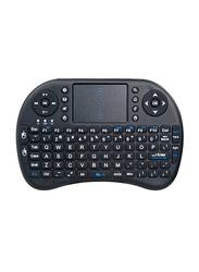 Rii I8 2.4 GHz Wireless Touchpad Mini English Keyboard, Black