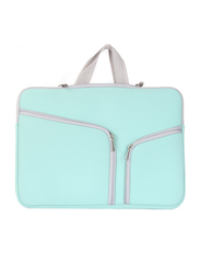 Basics 13.3-inch Sleeve Laptop Bag, Protective Double Zeeper for MacBook Air 13/Pro 13-inch, Aqua Blue