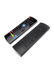 Basics MX3-M Air Mouse, Remote Control 2.4 GHz Wireless English Keyboard, Black