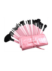 Professional 32 Pieces Makeup Brushes Set, Pink/Black