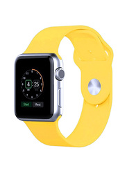 Silicone Sport Apple Watch 38mm Replacement Wrist Band Strap, Yellow