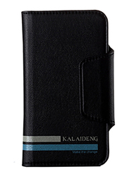 Kalaideng Versal Series Wallet Leather 4.2inch Case for Smartphone, Black