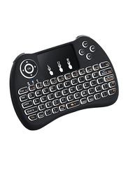 H9 Wireless Touchpad Mini Backlight English Keyboard, Black