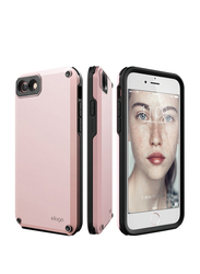 Elago iPhone 8/7 Protective Armor Mobile Phone Back Case Cover, with Secret Pocket, Pink
