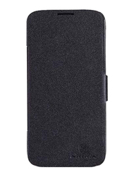 Nillkin Lenovo A850 Stylish Leather Mobile Phone Case Cover, Black