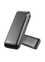 Cager 12000mAh B16 Wired Fast Charging Power Bank with Backup Battery & Micro-USB Input, Black