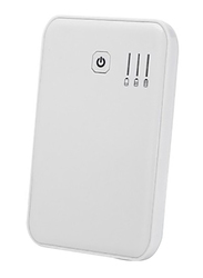 Simpiz 5000mAh Wired Fast Charging Power Bank with LED Indicators & Micro-USB Input, White