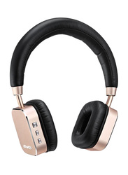 Awei A900BL Wireless On-Ear Bass Stereo Bluetooth Headphones with Mic, Black/Gold