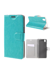 Leather Case Cover for OnePlus X, with Built-in Card Holder, Blue