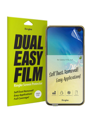 Rearth Ringke Samsung Galaxy S10E Dual Easy Film Anti-Smudge Coating Screen Guard Pack of 2 Set, Clear