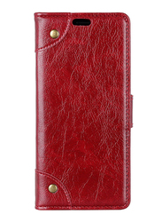 Huawei Mate 20 Pro Wallet Leather Stand Mobile Phone Flip Case Cover, Red