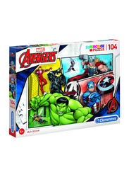 Clementoni 104-Piece Set Marvel Avengers Super Color Puzzle
