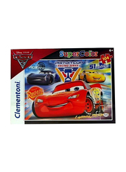 Clementoni 104-Piece Set Disney Cars 3 Super Color Puzzle