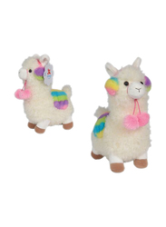 Nicotoy Funny Lama 26cm Soft Toy, White/Pink