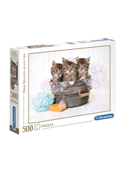 Clementoni 500-Piece The Kittens and Soap Adult Jigsaw Puzzle