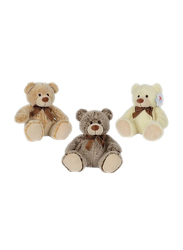 Nicotoy Sitting Bear with Ribbon 26cm Soft Toy, Assorted Color