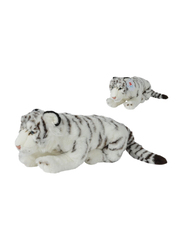 Nicotoy White Tiger with Beans 50cm Soft Toy