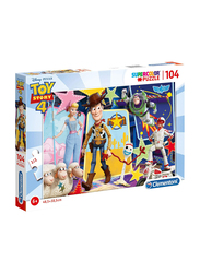 Clementoni 104-Piece Set Toy Story 4 Super Color Puzzle, 130740