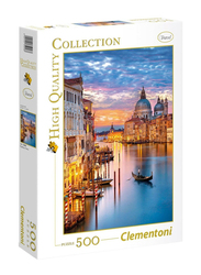 Clementoni 500-Piece The View of Lighting Venice Adult Jigsaw Puzzle