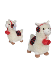 Nicotoy Funny Lama 26cm Soft Toy, White/Red