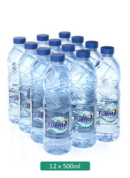 Fuente Low Sodium Bottled Drinking Water, 12 x 500 ml