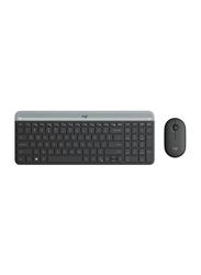 Logitech MK470 Slim Wireless English Keyboard and Mouse Combo Set, Black