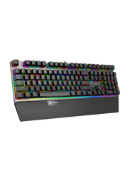 Rapoo V720S VPro RGB Blue Switch Wired English Gaming Keyboard, Black