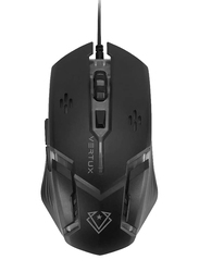 Vertux Ergonomic Optical USB Wired Gaming Mouse, Black