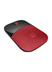 HP Z3700 Wireless Optical Mouse, Red
