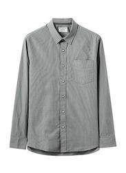 Giordano Long Sleeve Shirt for Men, Small, Grey