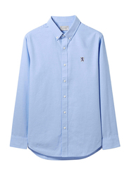 Giordano Oxford Long Sleeve Shirt for Men, Double Extra Large, Blue