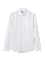 Giordano Cotton Wrinkle Free Shirt for Men, Large, White