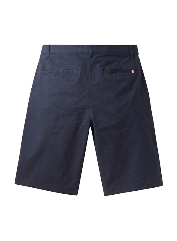 Giordano Stretchy Mid-Low Rise Casual Shorts for Men, 32 US, Blue
