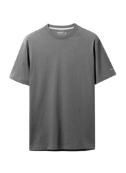 Giordano Crew Neck Shot Sleeve T-Shirt for Men, Large, Signature Grey