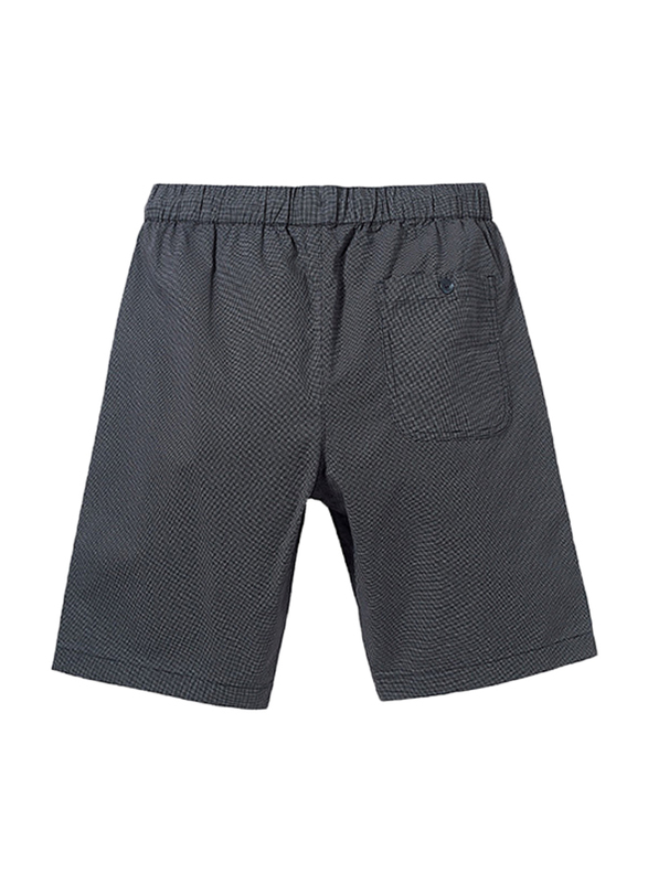 Giordano Slim Fit Elastic Waist Cotton Casual Shorts for Men, Small, Dark Grey