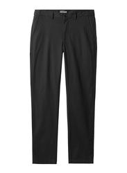 Giordano Mid-Low Rise Slim Pants for Men, 33 US, Black
