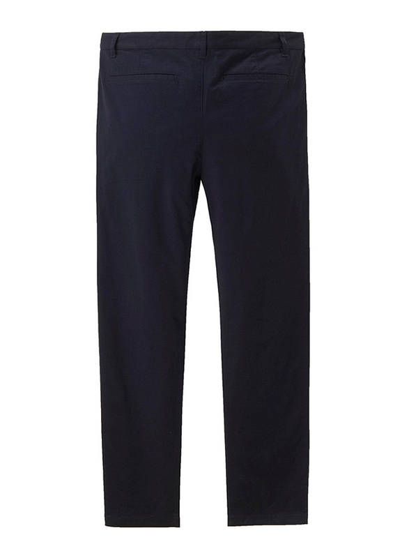 Giordano Stretchy Low Rise Slim Tapered Pants for Men, 31 US, Navy Blue