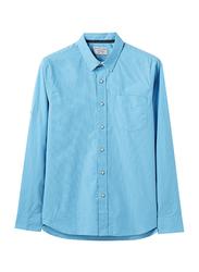 Giordano Long Sleeve Shirt for Men, Small, Dark Blue