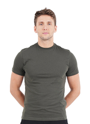 Giordano Short Sleeve Crew Neck T-Shirt for Men, Double Extra Large, Grey