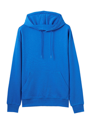 Giordano French Terry Hoodie for Men, Extra Large, Blue