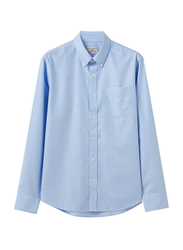 Giordano Cotton Wrinkle Free Shirt for Men, Large, Blue