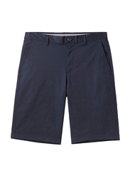 Giordano Stretchy Mid-Low Rise Casual Shorts for Men, 30 US, Blue