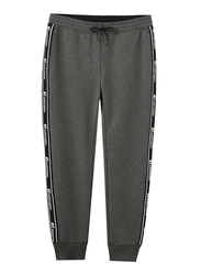 Giordano G-Motion Tape Joggers for Men, Extra Large, Grey