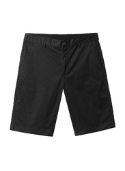 Giordano Stretchy Mid-Low Rise Casual Shorts for Men, 29 US, Black