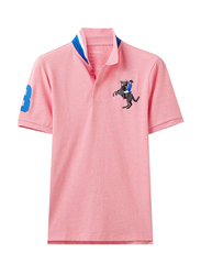 Giordano Short Sleeve 3D Napoleon Polo Shirt for Men, Double Extra Large, Light Pink