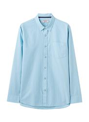 Giordano Long Sleeve Shirt for Men, Small, Light Blue