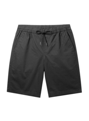 Giordano Slim Fit Elastic Waist Cotton Casual Shorts for Men, Extra Large, Black